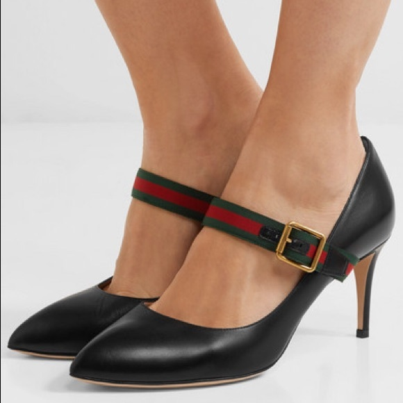 2090d00ed GUCCI SYLVIE LEATHER PUMPS size 37 or 7. M_5b396e10c9bf506443352fbc